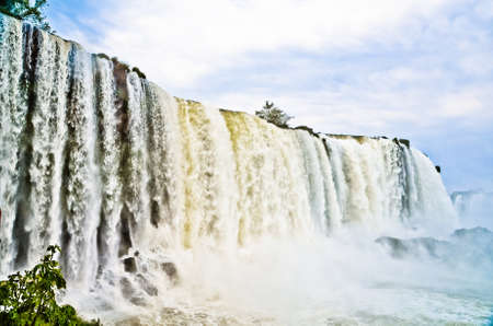 cataracts: Iguazu falls in Brazil showing its power.