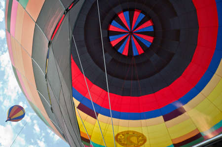 hotair: Hot-air balloon inside view with another balloon aside