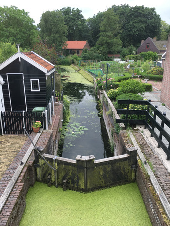 Historical Canal in Edam, Holland Stock Photo