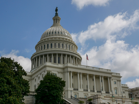 WASHINGTON DC - SEP 2017: United States Capitol building, home of the Congress in Washington DC, USA