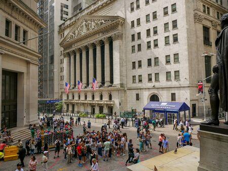 New York - Sep 2017: New York Stock Exchange Building in Lower Manhattan, New York