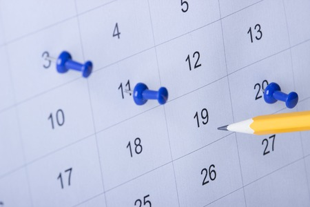event planner: calendar with notes