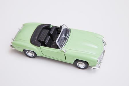 green car model toy Stock Photo