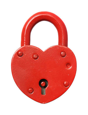 The padlock lock on a white background.