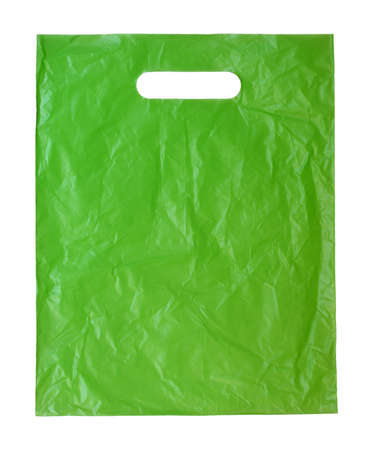 plastic material: Plastic bag isolated on white background Stock Photo
