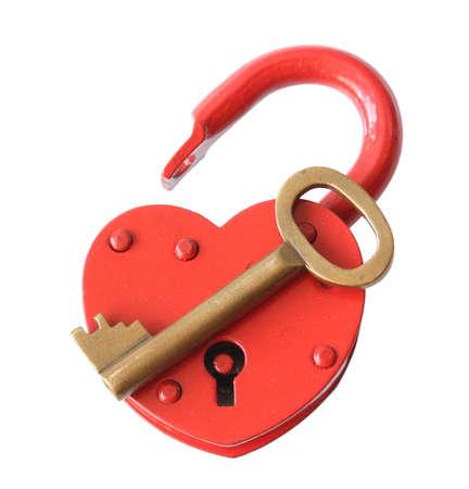 The padlock lock on a white background. photo