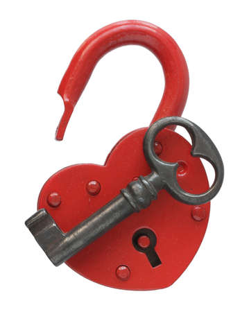 keyhole: The padlock lock on a white background.