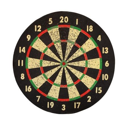 Doel voor darts op een witte achtergrond.