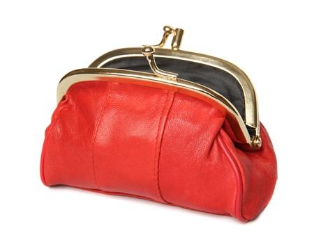 full red: Intero portafoglio rosso su sfondo bianco
