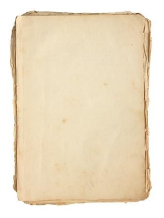 pergamino: Papel viejo aislado en un fondo blanco. Foto de archivo
