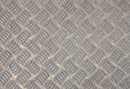 A background of old metal diamond plate. photo