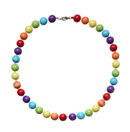 frippery: Color beads isolated on a white background.