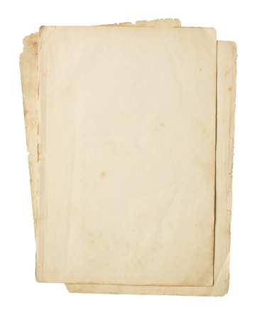 old papers: Old paper isolated on a white background.