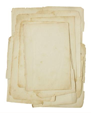 Oud papier geïsoleerd op een witte achtergrond