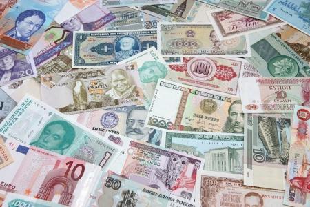 Achtergrond van papiergeld van de verschillende landen.