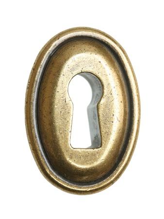 key hole shape: Oval keyhole isolated on a white background.