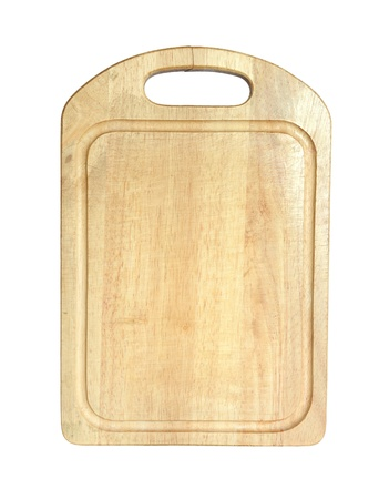 Chopping board isolated on a white background. photo