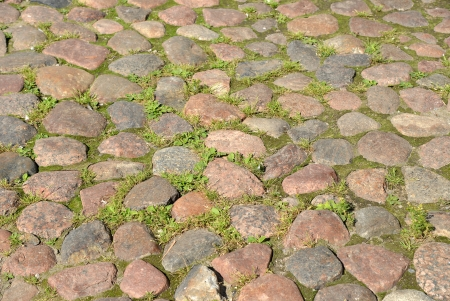 Abstract background of cobblestone pavement. Stock Photo - 23246725