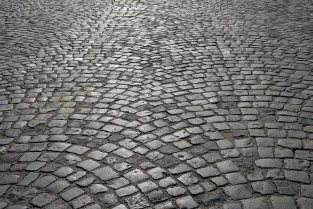 Abstract background of old cobblestone pavement. Foto de archivo