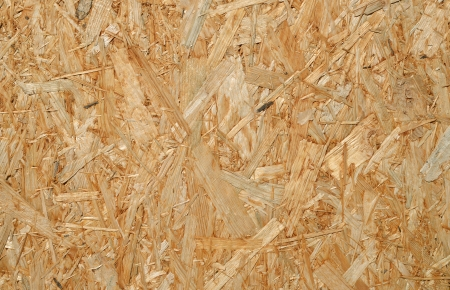 Background, oriented strand board close up. photo