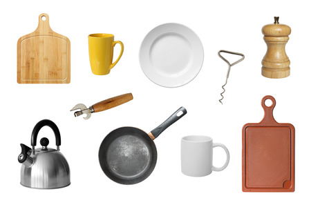 Kitchen tools isolated on a white background. photo