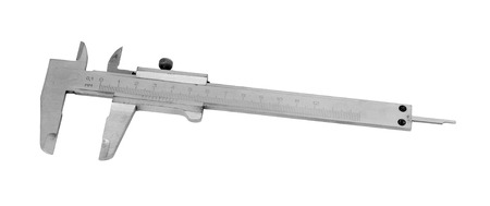 Metal vernier caliper isolated on white background. photo