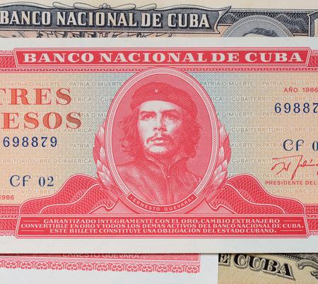 che guevara: Ernesto Che Guevara on a banknote of Cuba of 1986.