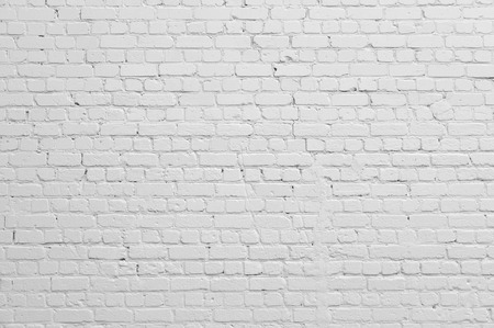 bricks: Background. Brick wall painted with white paint.