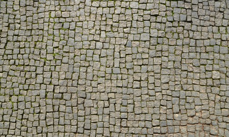 Abstract background of old cobblestone pavement view from above 版權商用圖片