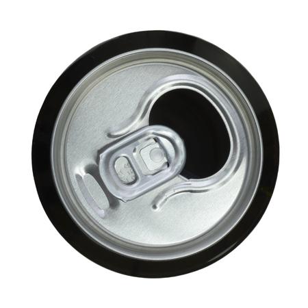 ビールの缶を開く。平面図です。 写真素材