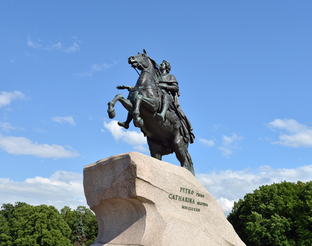RUSSIA, SAINT- PETERSBURG- JULY 4, 2017: Peter I the Great monument.