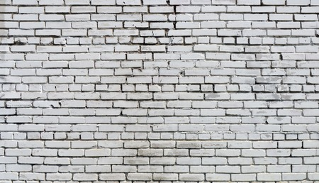 dirty room: Background. Brick wall painted with white paint.