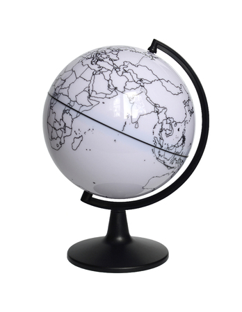Stand for the globe isolated on a white background. Stockfoto