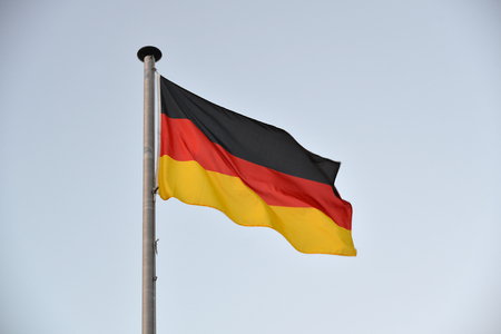 Flag of Germany on a gray background
