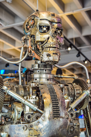 terminator: Photo of the T-800 Endoskeleton from the Terminator 3D Editorial