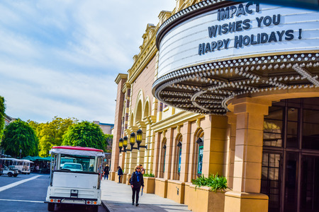 bros: USA, California, Los Angeles, Hollywood, 17 Janua 2015: Photo of Warner Bros. Studio Tour Hollywood, Outside views of the Warner Brothers Studios Buildings, for many TV Shows and Movies. VIP Tour