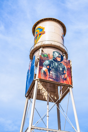 warner: USA, California, Los Angeles, Hollywood, 17 Janua 2015: Photo of Warner Bros. Studio Tour Hollywood, Outside views of the Warner Brothers Studios Buildings, for many TV Shows and Movies. VIP Tour