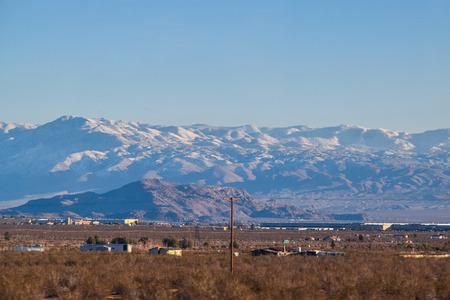 nevada desert: Viewing the Desert Landscape, Nevada snowy sierra  mountains
