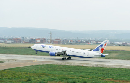 turbofan: Plane takes off from the company Transaero runway