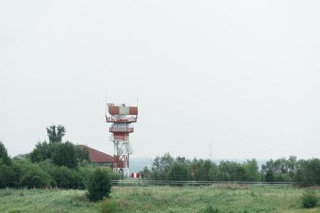 atc: Radio aerial. Air Traffic Control ATC at the Irkutsk airport Stock Photo