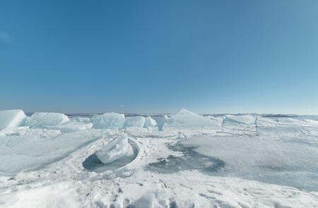 baical: Baikal lake in winter. Stock Photo