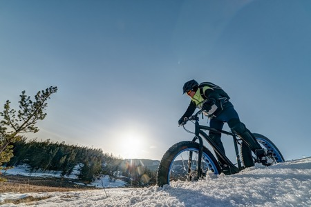 Fatbike. Fat Tire Bike. Stockfoto