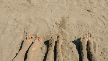 Familie am strand nackte Geile Nackte