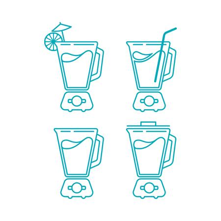 juice blender icon vector bundle isolated on white background Ilustrace