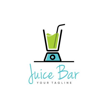 juice bar logo design inspiration isolated on white background Ilustrace