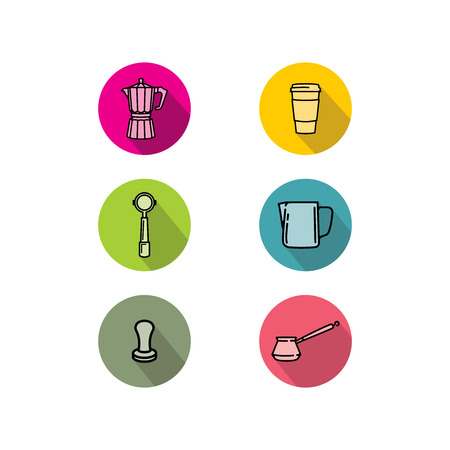 coffee shop icon logo vector isolated on white background