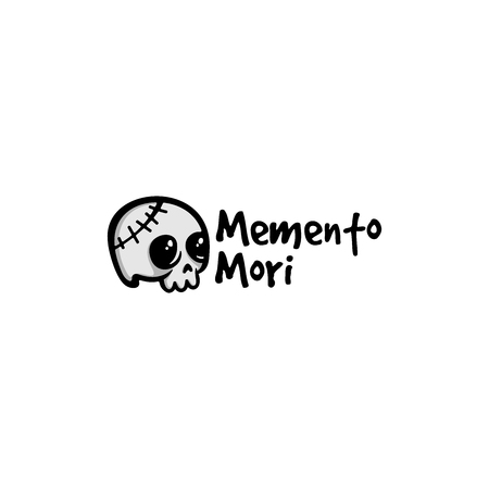 cute skull vector isolated on white background