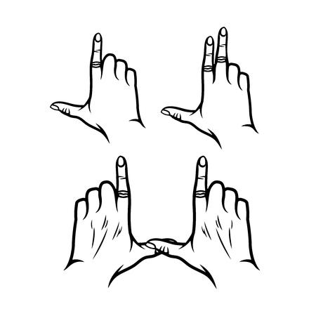 Finger vector logo isolated on white background Ilustrace