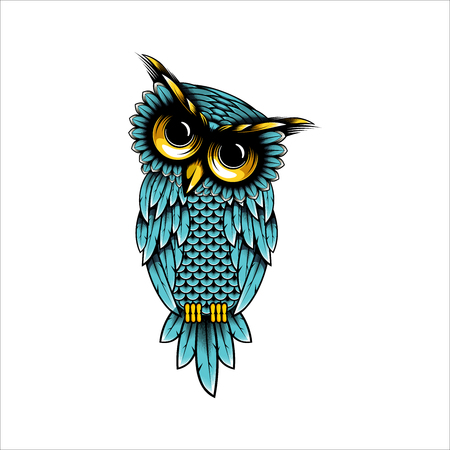 Owl vector design illustration, Owl t-shirt design illustration - Owl logo design inspiration isolated on white background Ilustrace