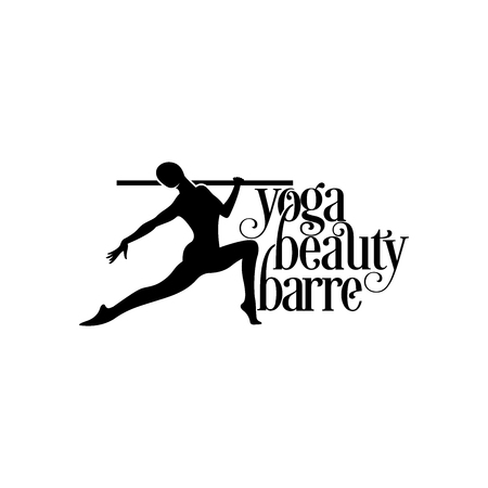 Woman dancing ballerina silhouette, yoga logo design inspiration, beauty motion logo design inspiration isolated on white background Ilustrace
